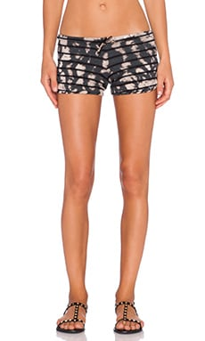 Saint Grace Cali Shorts in Black Sun Wash