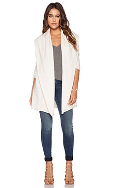 Saint Grace Spring Fleece Cardigan in Cream