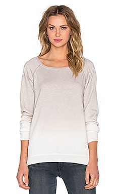 Saint Grace Side Slit Raglan Sweatshirt in Wolf Ombre Wash