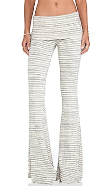Ashby Flare Pants in Cream Stripe
