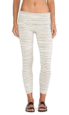 Saint Grace Crop Legging in Cream Stripe