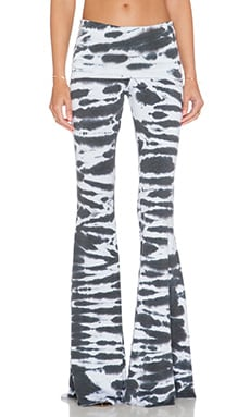 Saint Grace Ashby Flare Pant in Black Tiger Wash