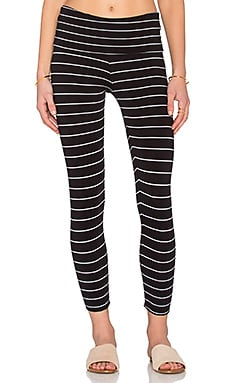 Saint Grace Cropped Legging in Black & White