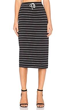 Saint Grace Midi Skirt in Black & White