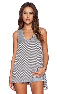 Saint Grace Mila Stripe Tank in White