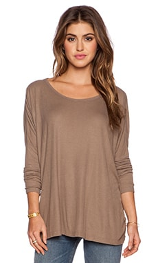 Saint Grace Omega Oversized Top in Stone