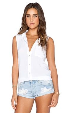Saint Grace Edge Top in White