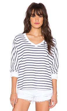 Saint Grace Compass Oversized V Top in White