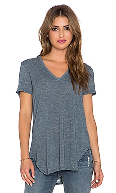 Saint Grace Lax Oversized V Neck Tee in Night