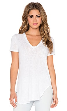Saint Grace Lax Oversized V Neck Tee in White