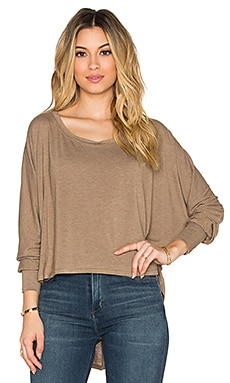 Saint Grace Long Sleeve Shirttail Tee in Mojave