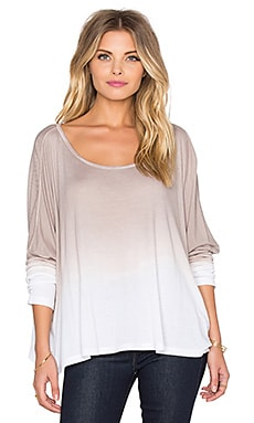 Omega Oversized Top in Wolf Ombre Wash