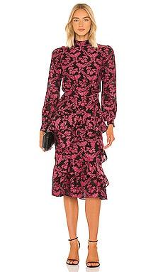 Isa Ruffle Dress SALONI $695