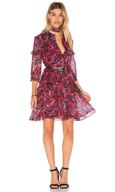 SALONI Tilly Ruffle Dress in Crest