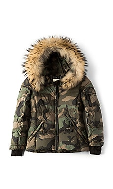 Camo Blake Jacket with Asiatic Raccoon Fur