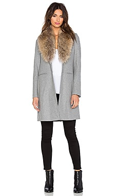 SAM. Crosby Fur Coat in Heather Grey
