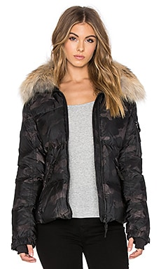 SAM. Camo Fur Freestyle Jacket in Dark Camo