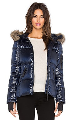 SAM. Blake Asiatic Raccoon Fur Jacket in Midnight