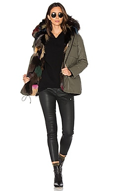 Multi Kate 4-in-1 Jacket with Fox Fur in Army & Multi