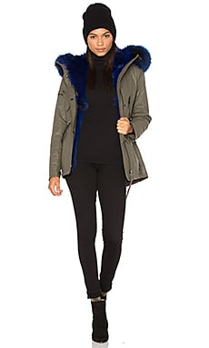 Luxe Mini Limelight 4-in-1 Parka with Fur in Army Blue