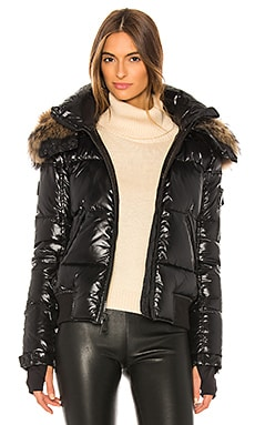 Dylan Detachable Fur Hood Puffer Jacket SAM. $725