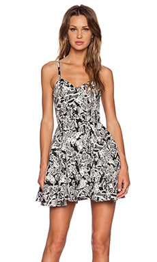 Sam Edelman Butterfly Party Dress in Black & White