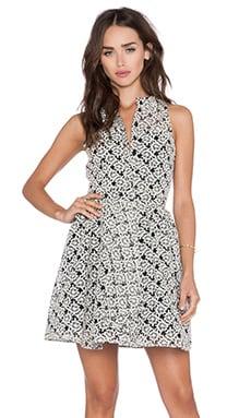 Sam Edelman Button Rom Dress in Black & White