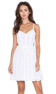 Sam Edelman Cut-out Eyelet Dress in Blanc