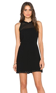 Sam Edelman Scalloped Edge Dress in Black