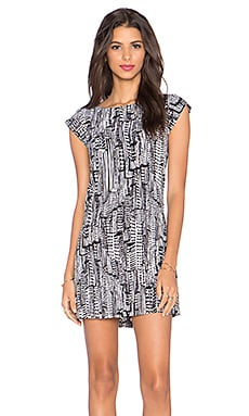 Sam Edelman Contrast Back Detail Dress in Black & Ivory