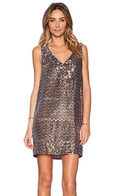 V-Neck Sequin Dress in Multi