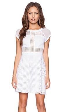 Sam Edelman Embroidered Dress in Bright White