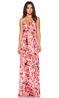 Sam Edelman Inverted Pleat Maxi Dress in Pink Gloss