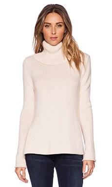 Sam Edelman Cowl Neck Sweater with Zip Cuffs in Ash Rose Heather