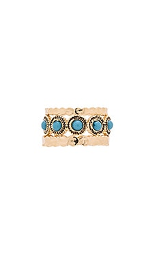 Sam Edelman Stone Stack Ring in Turquoise & Gold