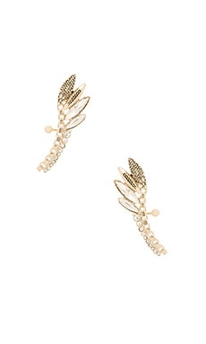 Sam Edelman Navette Ear Cuff in Crystal Gold