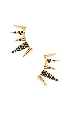 Sam Edelman Pave Spike Ear Cuff in Black & Gold