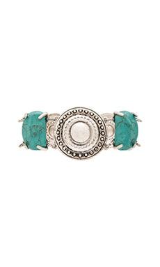 Sam Edelman Stone Disc Bracelet in Turquoise & Silver