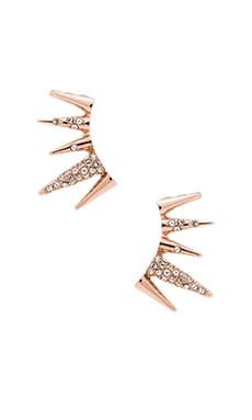 Sam Edelman Pave Spike Ear Cuff in Crystal & Rose Gold