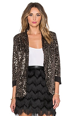 Sam Edelman Sequin Blazer in Gold