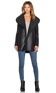 Sam Edelman Sydney Hooded Coat in Black