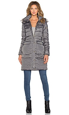 Sam Edelman Nicole Belted Puffer Jacket in Charcoal