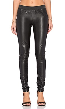 Skylar Faux Leather Legging in Black