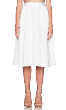 Sam Edelman Full Mid-Length Skirt in Bright White