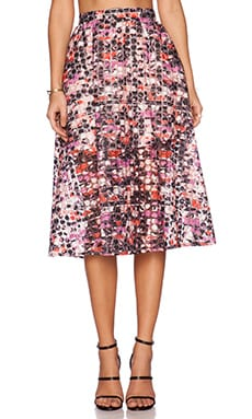 Sam Edelman Stripe Floral Midi Skirt in Multi