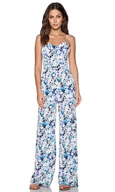 Sam Edelman Photo Floral Jumpsuit in Turquoise