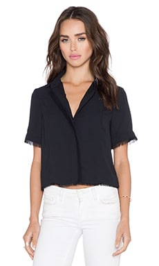Sam Edelman Button Down Top in Black