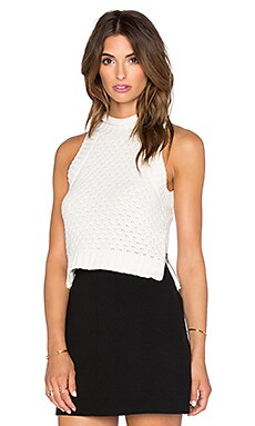 Sam Edelman Milla Sweater Crop Top in Ivory