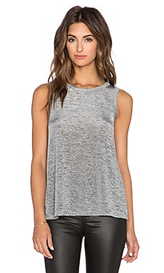 Sam Edelman Isla Cross Back Tank in Heather Grey