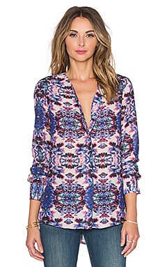 Sam Edelman Devon Long Sleeve Blouse in Multi
